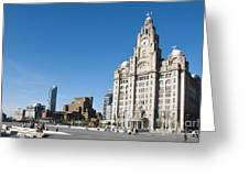 Liverpool Skyline Greeting Card