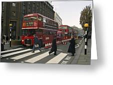 Liverpool Street Station Bus - London Greeting Card