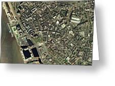 Liverpool, Uk, Aerial Image Greeting Card