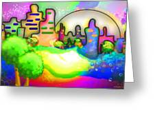 Living In Color Greeting Card by Melisa Meyers