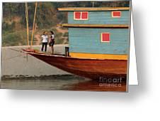 Living On The Mekong Greeting Card