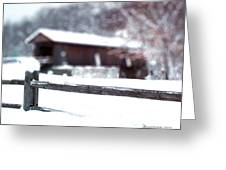 Livingston Manor Covered Bridge Greeting Card
