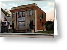 Livingston Manor Ny - National Bank Greeting Card