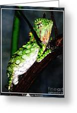 Lizard With Oil Painting Effect Greeting Card