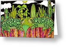 Lizards In Love Greeting Card