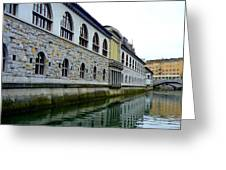 Ljubljana Reflections Greeting Card