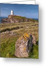 Llanddwyn Rock Greeting Card