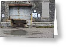 Loading Dock Door 2 Greeting Card