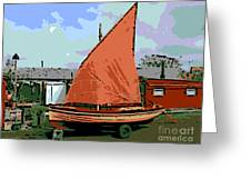 Lobster Boat Greeting Card