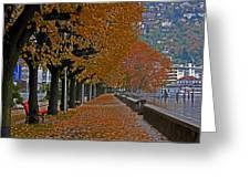 Locarno In Autumn Greeting Card