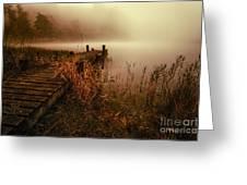 Loch Ard Early Morning Mist Greeting Card by John Farnan