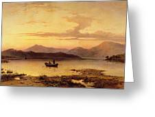 Loch Etive From Bonawe In The Evening Greeting Card