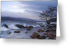 Loch Ness Shoreline At Dusk Greeting Card