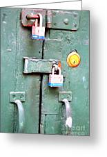 Locked Tight Greeting Card