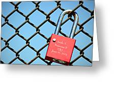 Locked Together Forever Greeting Card