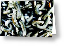Locked Up In Chains Greeting Card