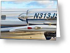 Lockheed Jet Star Engine Greeting Card