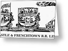 Locomotive, 1833 Greeting Card