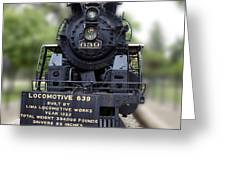 Locomotive 639 Type 2 8 2 Front View Greeting Card
