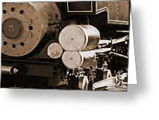 Locomotive No5 Stamped Greeting Card