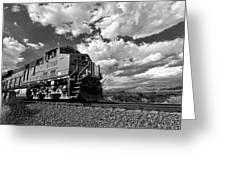 Locomotive To The Sky  Greeting Card