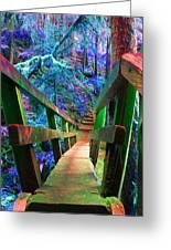 Log Bridges Greeting Card