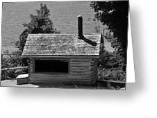 Log Cabin At Discovery Harbour Greeting Card