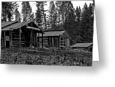 Log Cabins-faded Dreams Greeting Card