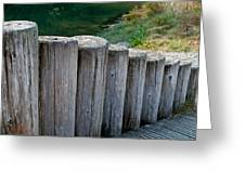 Log Handrail Greeting Card