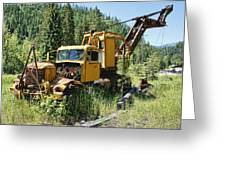 Logging Truck 2 - Burke Idaho Ghost Town Greeting Card