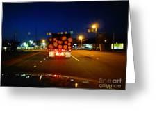 Logging Truck Ahead Greeting Card