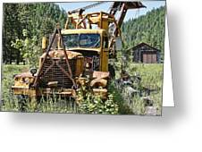 Logging Truck - Burke Idaho Ghost Town Greeting Card