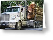 Logging Truck Greeting Card