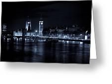 London At  Night View Greeting Card