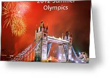 London Bridge 2012 Olympics Greeting Card