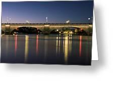 London Bridge At Dusk Greeting Card