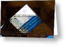 London Building Abstract Greeting Card