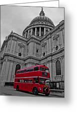London Bus At St. Paul's Greeting Card