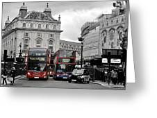 London Buses  Greeting Card