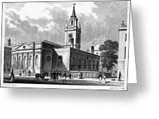 London: Church, C1830 Greeting Card