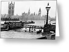 London England - House Of Parliament - C 1909 Greeting Card