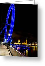 London Eye And London View Greeting Card