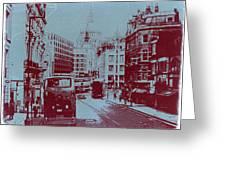 London Fleet Street Greeting Card by Naxart Studio