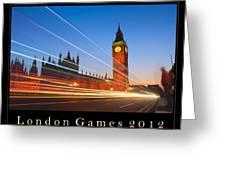 London Games 2012 Greeting Card