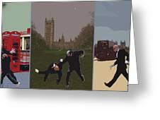 London Matrix Triptych Greeting Card