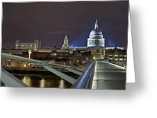 London Millennium Bridge Greeting Card