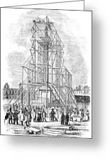 London: Nelson Column, 1845 Greeting Card