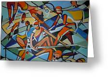 London Olympics Inspired Greeting Card by Michael Echekoba