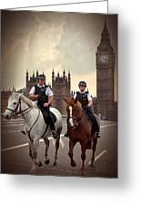 London Police Greeting Card