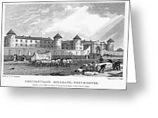 London: Prison, 1829 Greeting Card